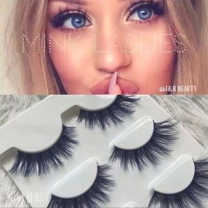 Other - Mink lashes 3 Pairs